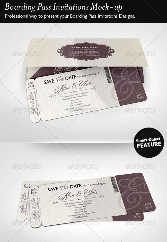 Boarding Pass Invitation Template Free Luxury 29 Boarding Pass Invitation Templates Psd Ai Vector