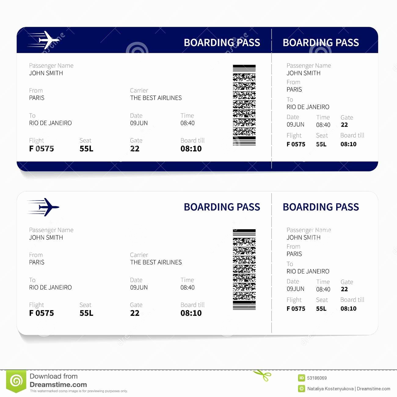 Boarding Pass Invitation Template Free Luxury Airline Ticket Template Free Sample Customer Service