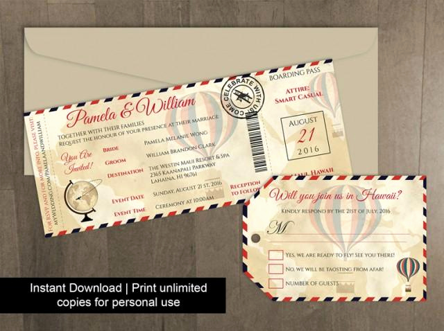 Boarding Pass Invitation Template Free Luxury Diy Printable Wedding Boarding Pass Luggage Tag Template
