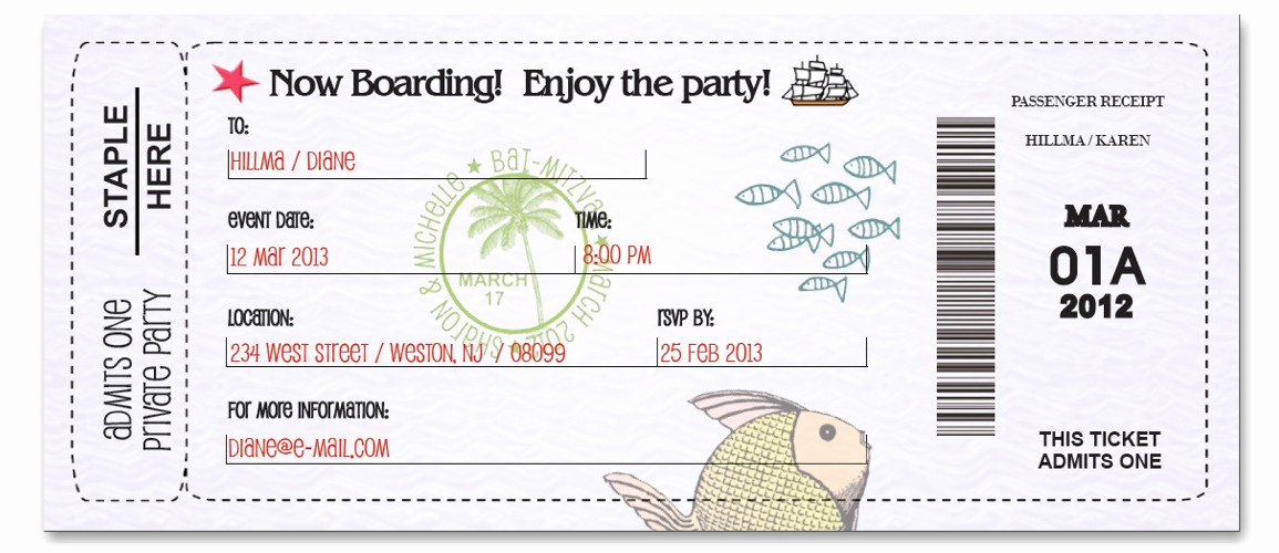 Boarding Pass Invitation Template Free Unique Custom Passport Invitation Cards