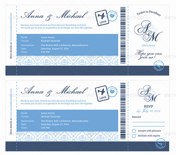 Boarding Pass Invitation Template Lovely 29 Boarding Pass Invitation Templates Psd Ai Vector