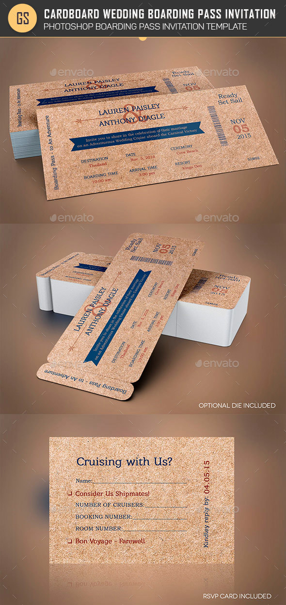 Boarding Pass Invitation Template Lovely Cardboard Boarding Pass Invitation Template by Godserv2