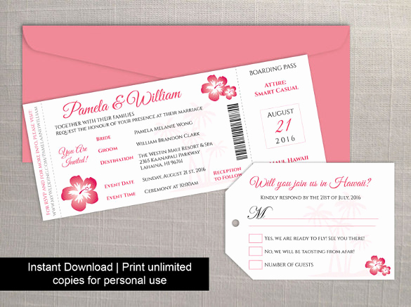 Boarding Pass Invitation Template Unique 29 Boarding Pass Invitation Templates Psd Ai Vector