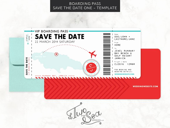 Boarding Pass Invitation Template Unique Boarding Pass Save the Date Template Invitation