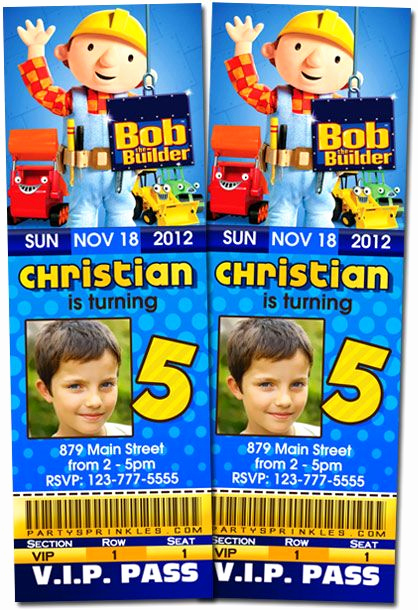 Bob the Builder Invitation Awesome 1000 Images About Logan S 4th Birthday On Pinterest