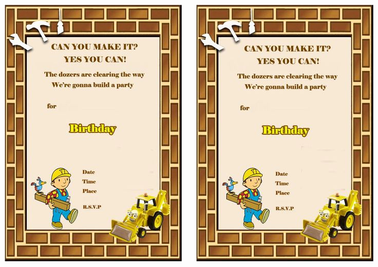 Bob the Builder Invitation Awesome 140 Best Images About Bob the Builder Printables On