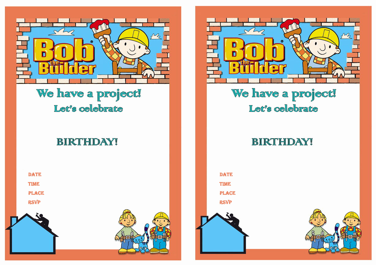 Bob the Builder Invitation Best Of 1000 Images About Bob the Builder Printables On Pinterest