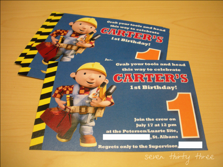Bob the Builder Invitation Best Of Can We Do It Yes We Can Inspiration Made Simple