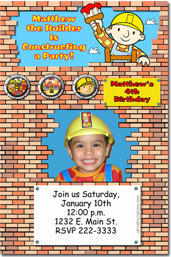 Bob the Builder Invitation Elegant Bob the Builder Birthday Invitations Candy Wrappers