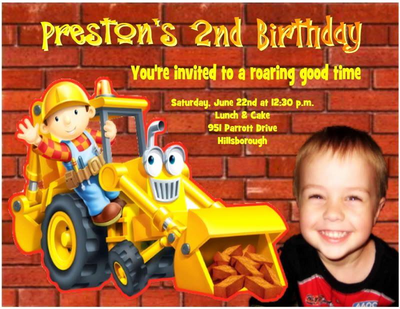 Bob the Builder Invitation Elegant Personalized Bob the Builder Birthday Invitation