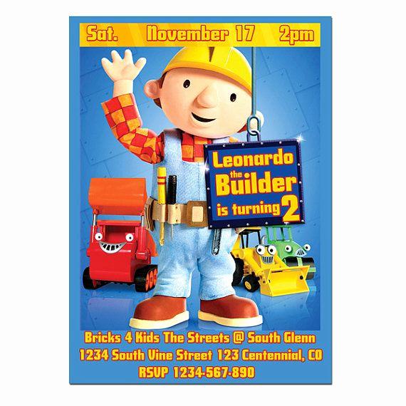 Bob the Builder Invitation Lovely 13 Best Bob the Builder Invitations Images On Pinterest