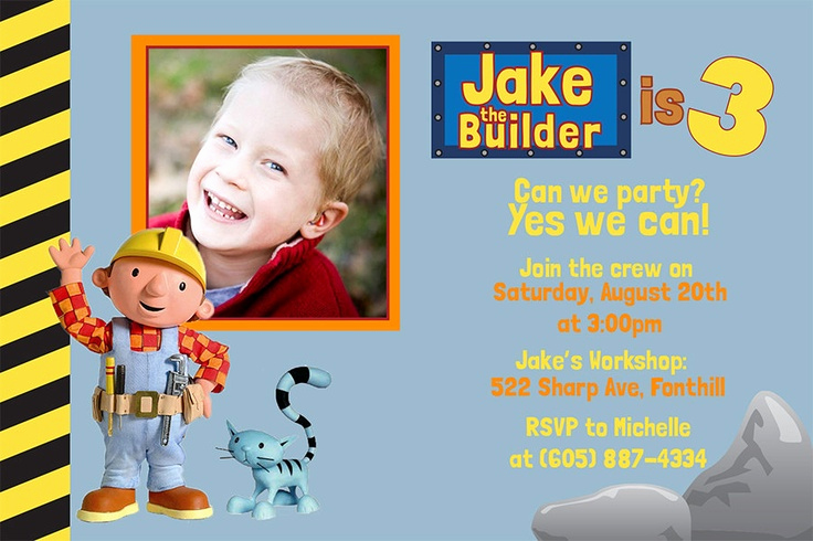 Bob the Builder Invitation Lovely 17 Best Images About Bob the Builder Birthday theme On
