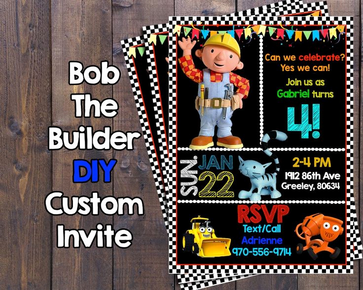 Bob the Builder Invitation New 24 Best for Marly Images On Pinterest