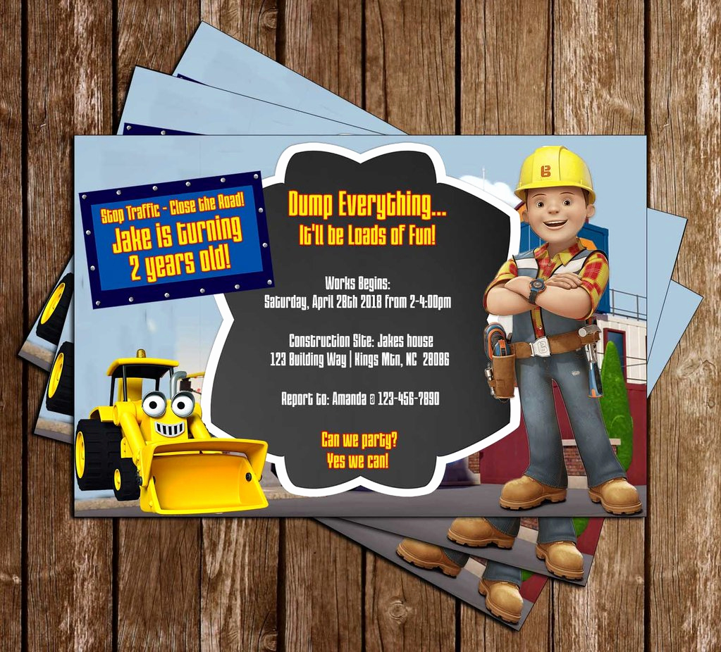 Bob the Builder Invitation New Novel Concept Designs Bob the Builder Pbs Show