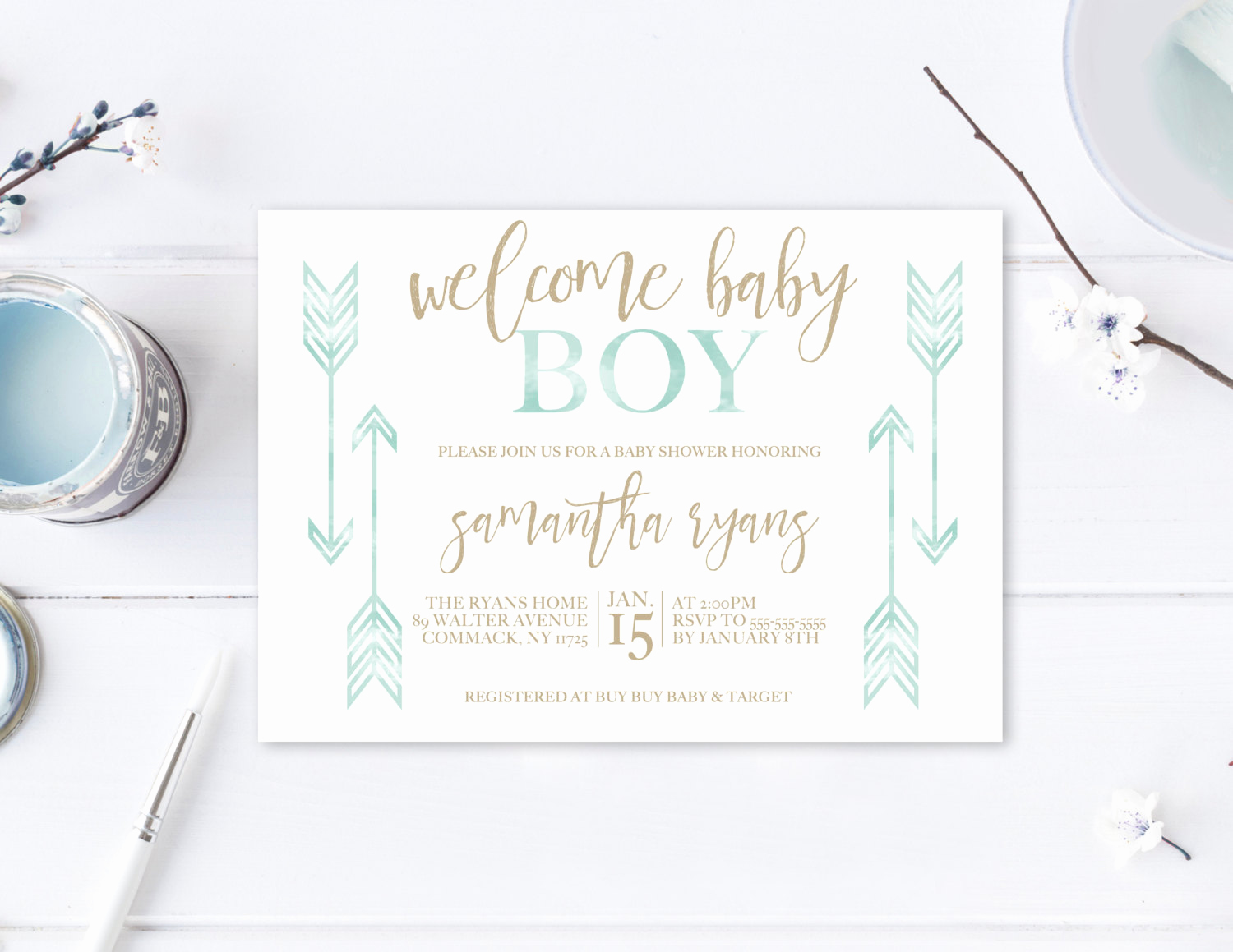 Boho Baby Shower Invitation Awesome Baby Shower Invitation Boho Baby Shower Invitations Boy Baby
