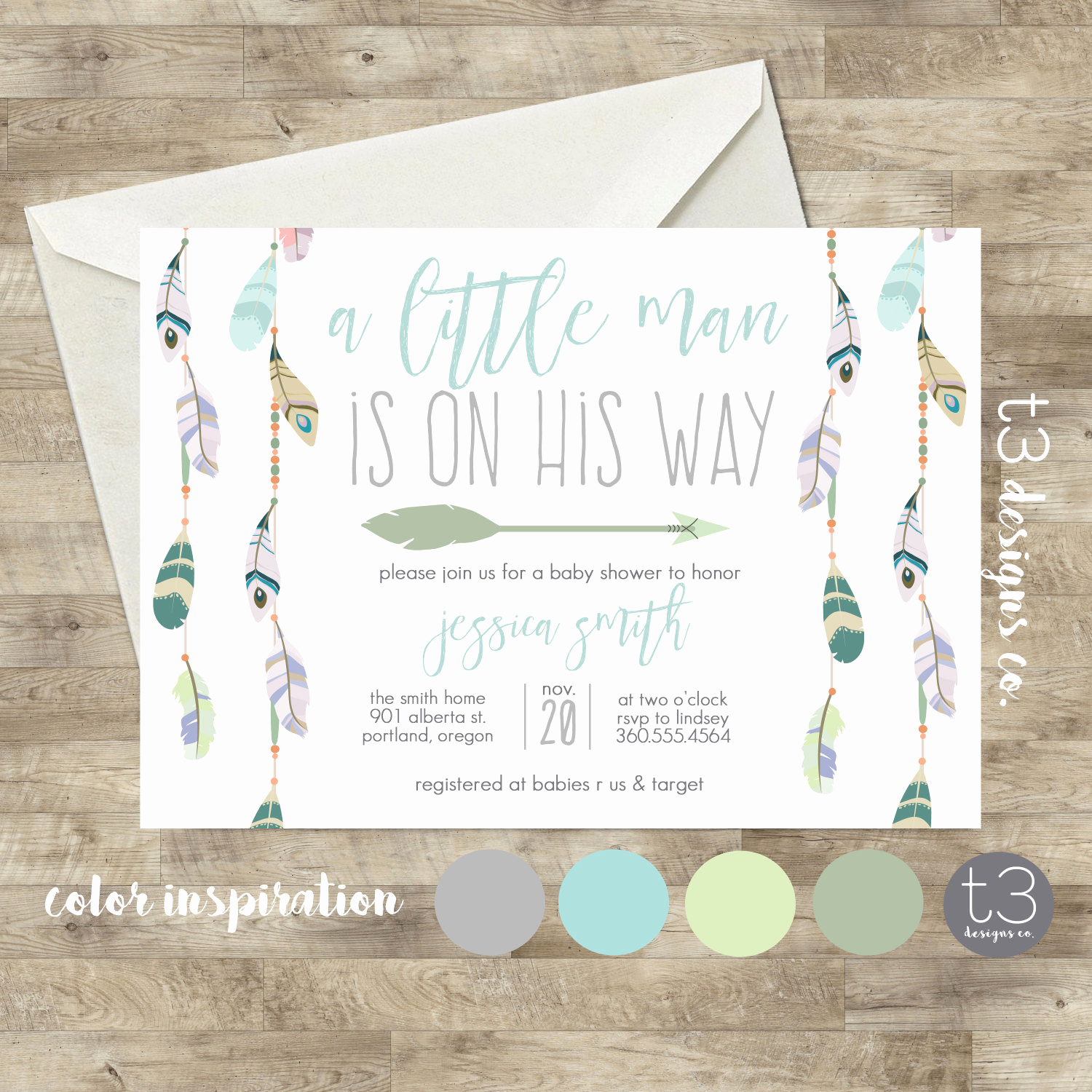 Boho Baby Shower Invitation New Baby Shower Invitation Boho Baby Shower Invite Native