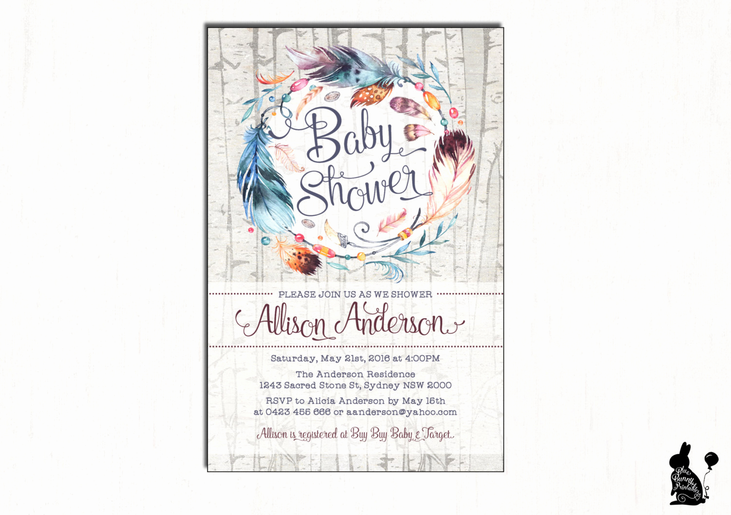 Boho Baby Shower Invitation New Boho Baby Shower Invitation Bohemian Baby Shower Invite