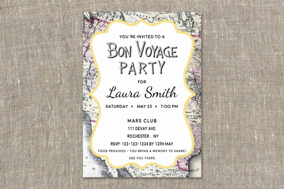 Bon Voyage Party Invitation Beautiful Bon Voyage Invitations Going Away Party Invitations