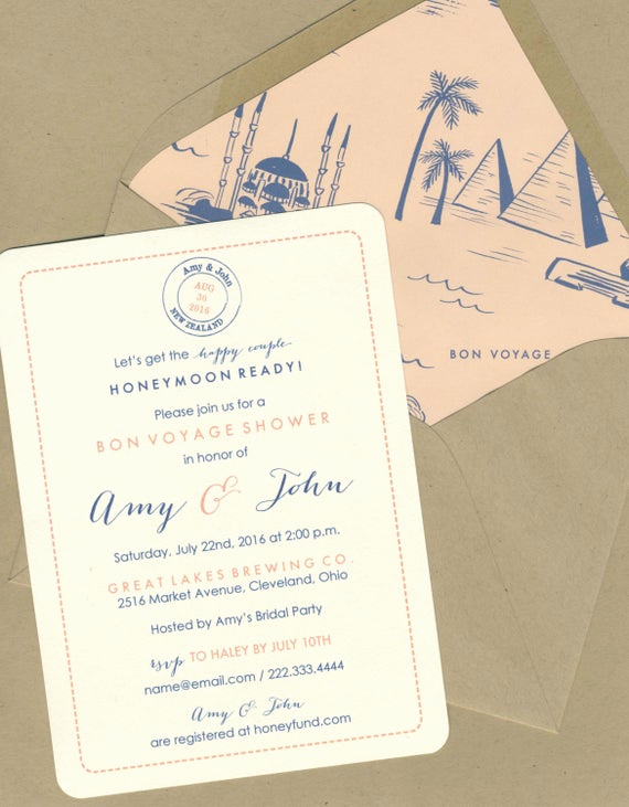 Bon Voyage Party Invitation Beautiful Bon Voyage Shower Invitations by Bbinvitations On Etsy