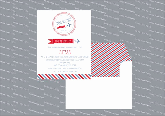 Bon Voyage Party Invitation Beautiful Items Similar to Bon Voyage Going Away Party Invitation