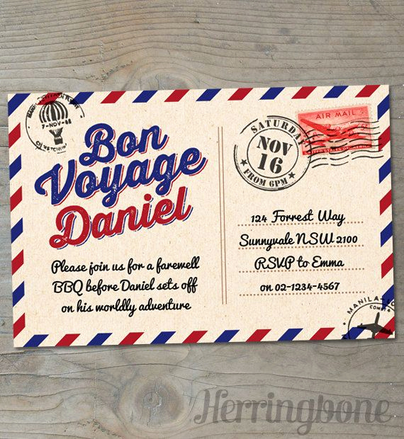 Bon Voyage Party Invitation Best Of Bon Voyage Farewell Printable Invitation