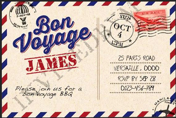 Bon Voyage Party Invitation Best Of Bon Voyage Party Invitation