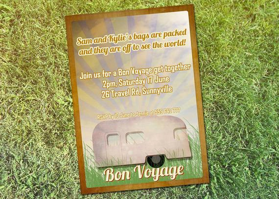 Bon Voyage Party Invitation Best Of Items Similar to Printable Personalized Bon Voyage Party