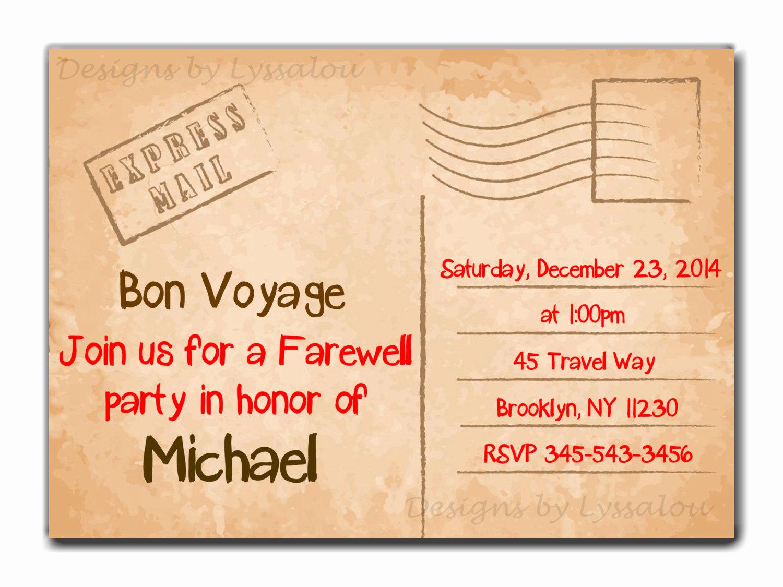 Bon Voyage Party Invitation Best Of Travel Farewell Party Invitation Bon Voyage Going Away