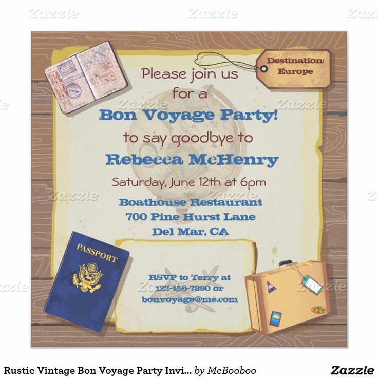 Bon Voyage Party Invitation Fresh 17 Best Images About Retirement Parties On Pinterest