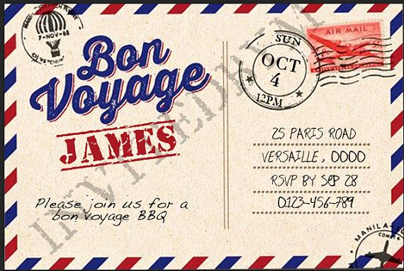 Bon Voyage Party Invitation Inspirational 17 Best Images About Bon Voyage Party On Pinterest
