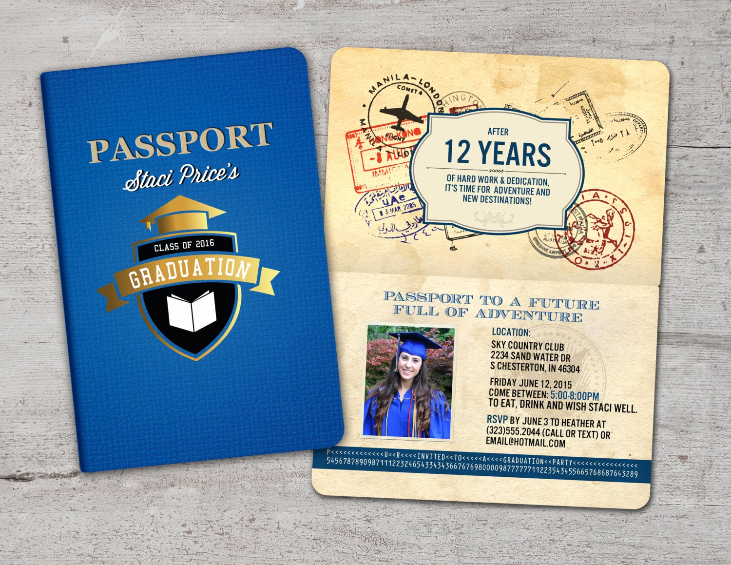 Bon Voyage Party Invitation Inspirational Graduation Party Invitation Bon Voyage Travel Passport