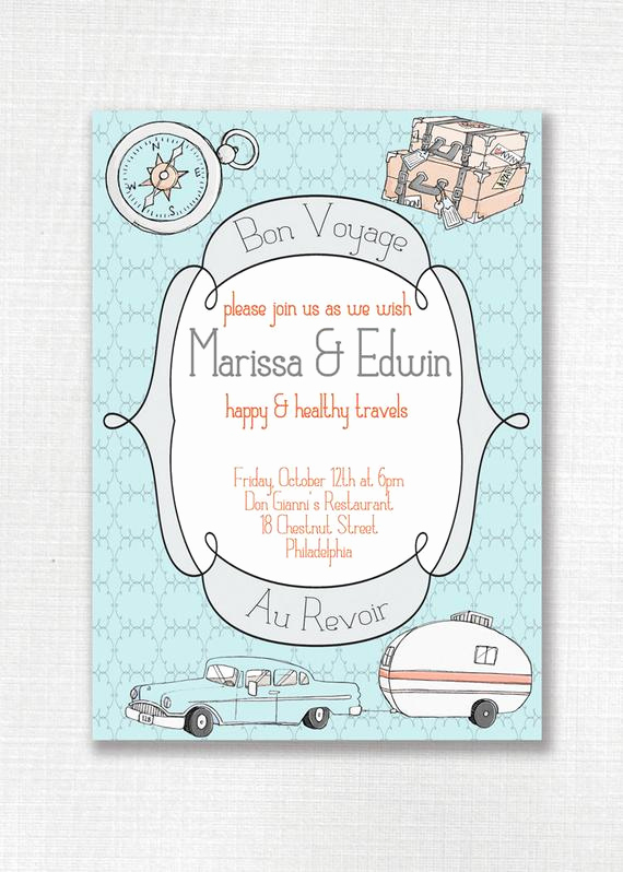 Bon Voyage Party Invitation Lovely Unavailable Listing On Etsy