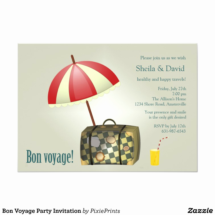 Bon Voyage Party Invitation Unique Bon Voyage Party Invitation
