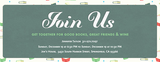 Book Club Invitation Wording Best Of Clubs Groups Free Online Invitations