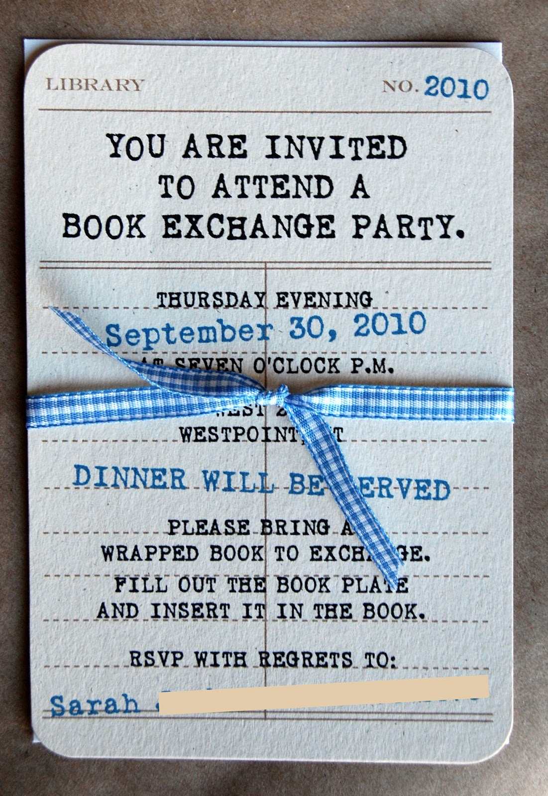 Book Club Invitation Wording Best Of Reid Girls Handmade Book Exchange Party Freebie