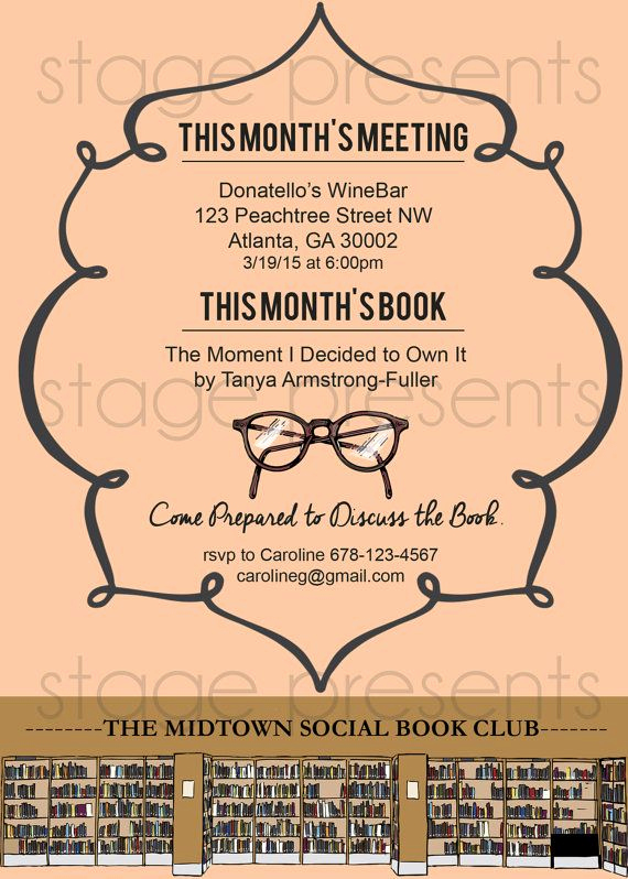 Book Club Invitation Wording Elegant 59 Best Images About Madison S Book Club On Pinterest