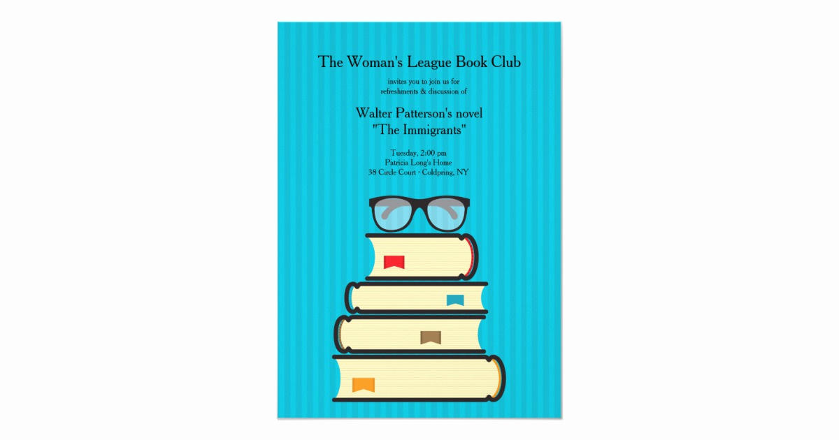 Book Club Invitation Wording Elegant Book Club Invitation