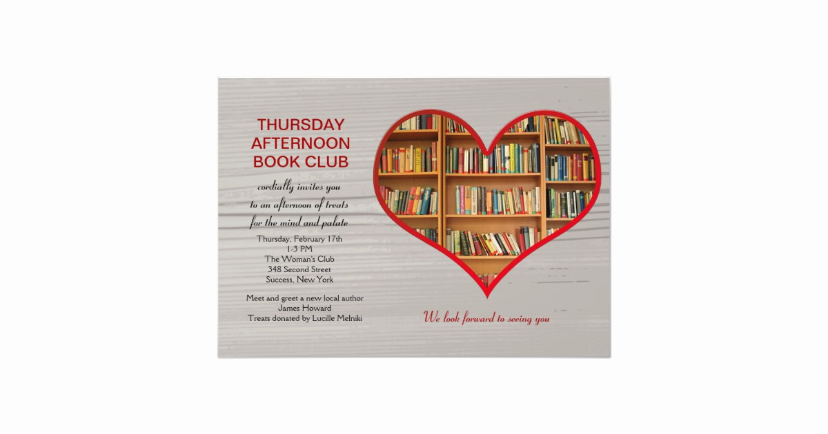 Book Club Invitation Wording Fresh Love to Read Book Club Invitation