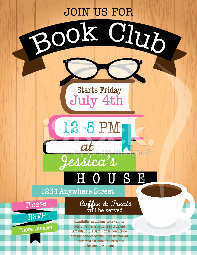Book Club Invitation Wording Lovely Retro Women S Book Club event Invitation Design Template