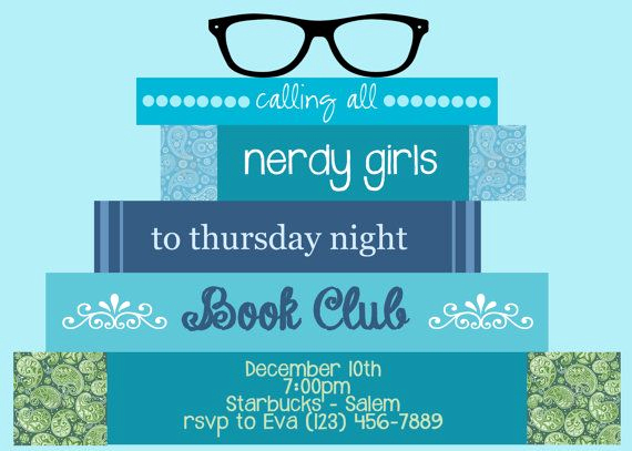 Book Club Invitation Wording New Book Club Meeting Invitation