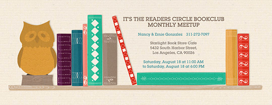 Book Club Invitation Wording New Free Book Club Line Invitations