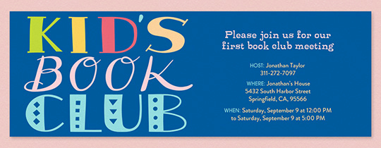 Book Club Invitation Wording Unique Free Book Club Line Invitations