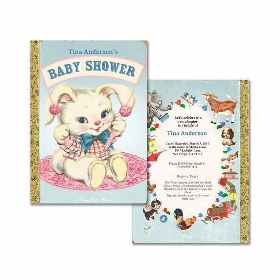 Book themed Baby Shower Invitation Awesome Baby Shower Invitation for Storybook theme Printable