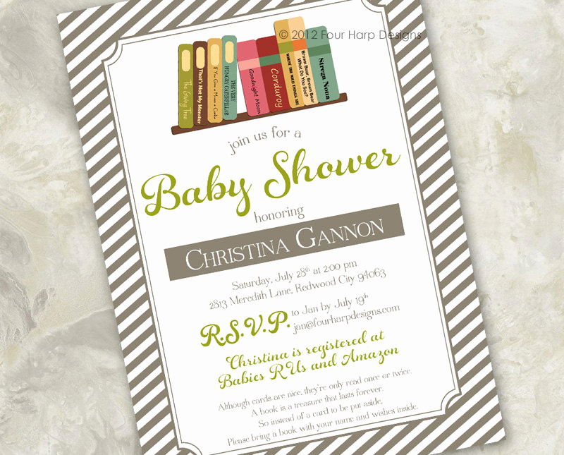 Book themed Baby Shower Invitation Awesome Baby Shower Invitations Book theme Party Xyz