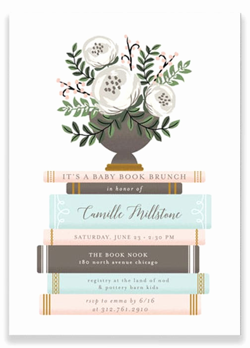 Book themed Baby Shower Invitation Awesome Planning A Baby Shower Start Here