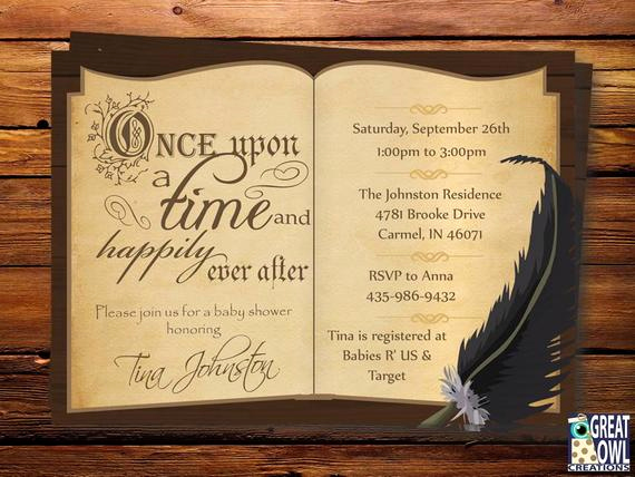 Book themed Baby Shower Invitation Best Of Book themed Baby Shower Invitation Storybook themed Ce