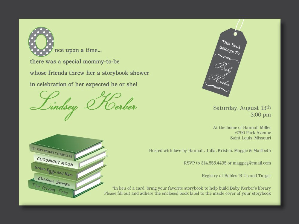 Book themed Baby Shower Invitation Fresh Book themed Baby Shower Invitations Party Xyz