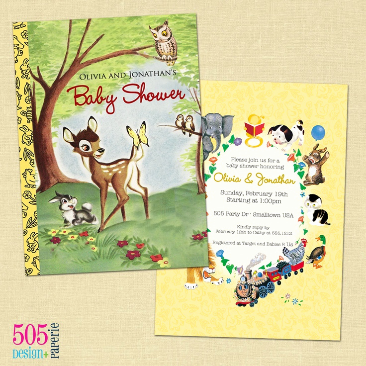 Book themed Baby Shower Invitation Inspirational 1000 Images About Bambi Party On Pinterest