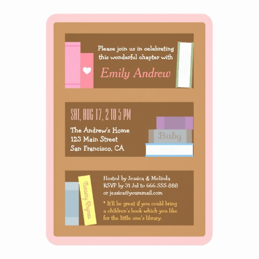 Book themed Baby Shower Invitation Luxury Book themed Baby Shower Invitations