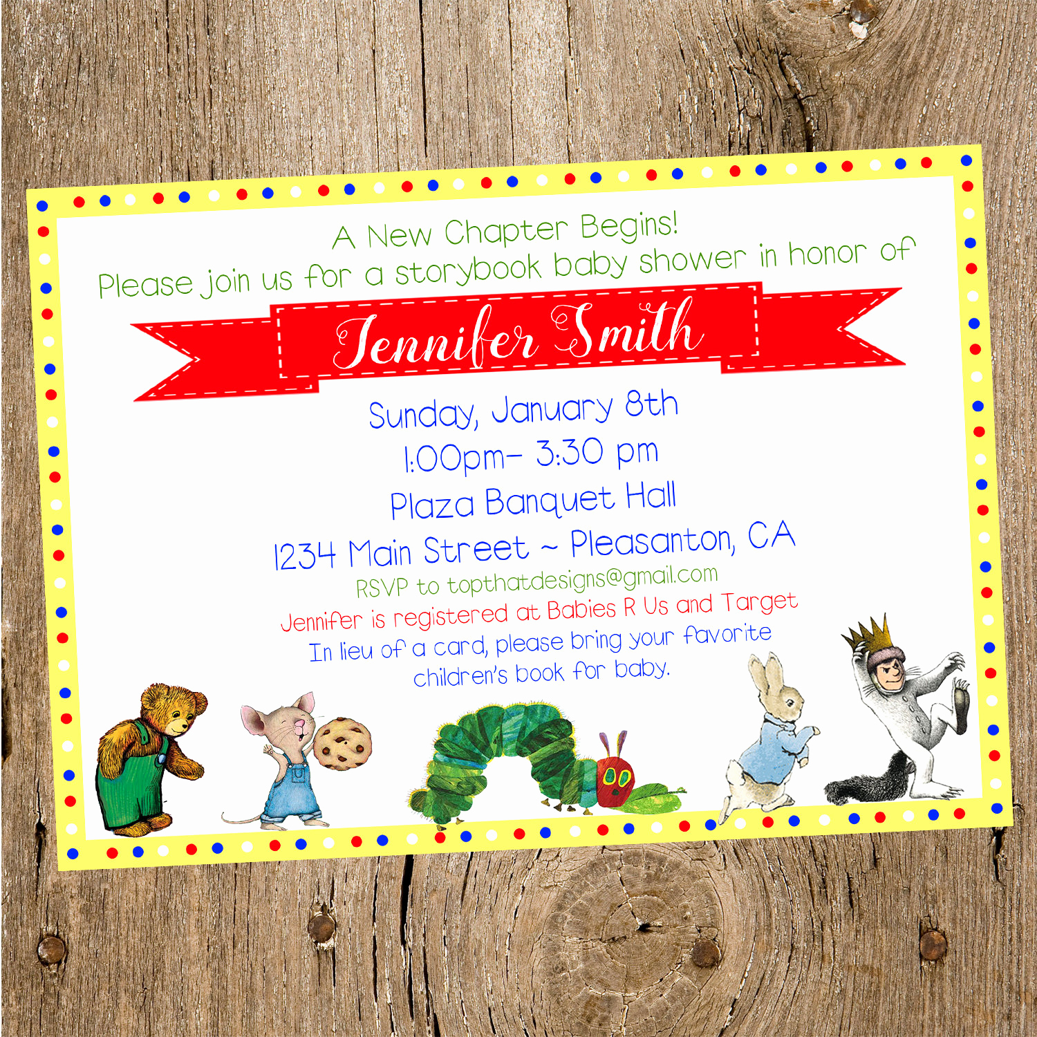 Book themed Baby Shower Invitation Luxury Children S Book themed Baby Shower Invitation by Jenleonardini